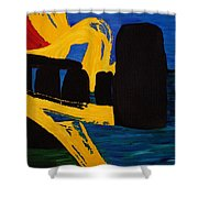 Stonehenge Abstract Evolution1 Shower Curtain