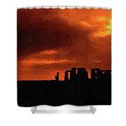 Stonehenge Impasto 2 Shower Curtain