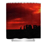 Stonehenge Impasto Shower Curtain