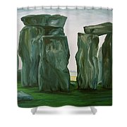 Stonehenge In Spring 2 Shower Curtain