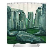 Stonehenge In Spring Shower Curtain