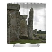 Stonehenge Side Pillars Shower Curtain