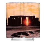 Stonehenge Winter Solstice Shower Curtain