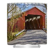Stonelick Covered Bridge Shower Curtain
