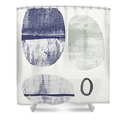 Stones 1- Art By Linda Woods Shower Curtain