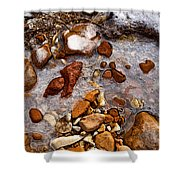 Stones And Ice Shower Curtain