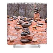 Stones In Balance Shower Curtain