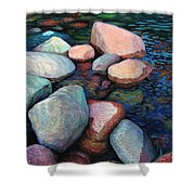 Stones Of The Lake Shower Curtain