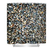 Stones On South Beach In Arklow Ireland Shower Curtain