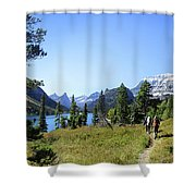 Stoney Indian Pass Trail Around Cosley Lake - Glacier National Park Shower Curtain