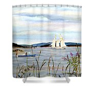 Stonington Harbor, Maine Shower Curtain