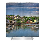 Stonington Harbor Shower Curtain