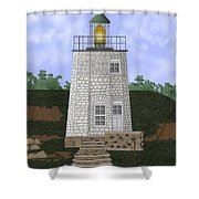 Stony Point On The Hudson River New York Shower Curtain