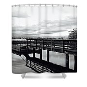 Stop And Reflect Shower Curtain