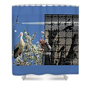 Stop Chemtrails Shower Curtain