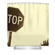 Stop Shooting Stop Signs Shower Curtain