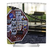 Stop Sign Ala New Orleans, Louisiana Shower Curtain