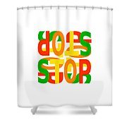Stop X 4 Shower Curtain