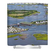 Stopping Traffic Topsail Island Shower Curtain