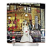 Store Front Wedding Shower Curtain