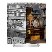 Store - In A General Store 1917 Side By Side Shower Curtain