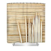 Stored Wooden Toothpicks Shower Curtain