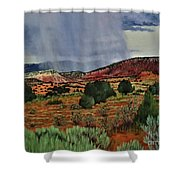 Storm Approaching The Ridge Shower Curtain