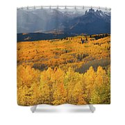 Storm At Ohio Pass During Autumn Shower Curtain