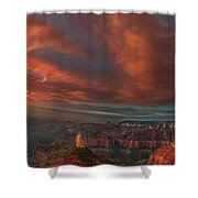 Storm At Sunrise Point Imperial Grand Canyon National Park Arizona Shower Curtain