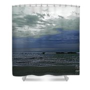Storm At The Beach Shower Curtain