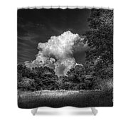 Storm Beyond The Meadow Shower Curtain