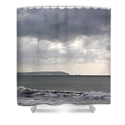 Storm Brewing Over The I O W Shower Curtain