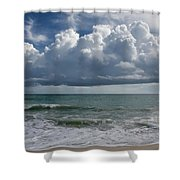 Storm Clouds Above The Atlantic Ocean Shower Curtain