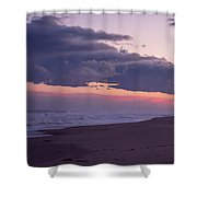 Storm Clouds At Dusk Seaside Nj Shower Curtain