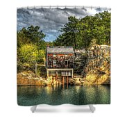 Storm Clouds Cross The Quarry At High Noon Shower Curtain