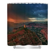 Storm Clouds North Rim Grand Canyon Arizona Shower Curtain by Dave Welling