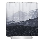 Storm Clouds On Pikes Peak Shower Curtain