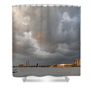 Storm Clouds On The Beach Shower Curtain