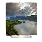 Storm Clouds Over Hood River Shower Curtain