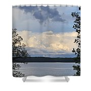 Storm Clouds Over Kentucky Lake Shower Curtain
