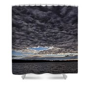Storm Clouds Over Long Lake Shower Curtain