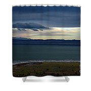 Storm Clouds Over Mono Lake Shower Curtain