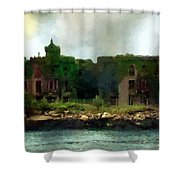 Storm Clouds Over Old New York Shower Curtain