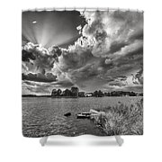 Storm Clouds Over Oriental Shower Curtain