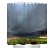 Storm Clouds Over Saskatchewan Shower Curtain