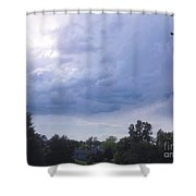 Storm Clouds Passing Through Shower Curtain