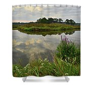 Storm Clouds Reflect In The Nippersink Shower Curtain