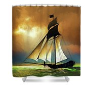 Storm Comes Shower Curtain