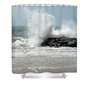 The Ocean's Strength Shower Curtain