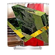 Storm Damage And Tail Light As Art Shower Curtain